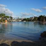 Eine Lagune neben dem Fluss in Brisbane