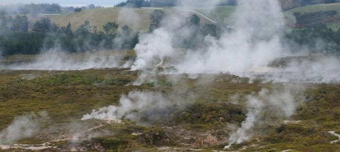 Neuseelands unterirdische Vulkanlandschaft