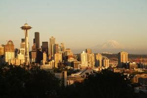 Seattle in der Abendsonne
