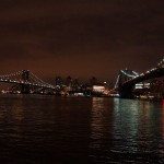 Manhattan Bridge und Broklyn Bridge