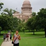Vor dem Capitol in Austin