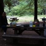 Kochen einen Tag vor dem Crater Lake NP