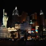 Das New York New York Casino mit der Skyline